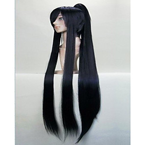 cheap Costume Wigs-Cosplay Costume Wig Synthetic Wig Cosplay Wig Straight Straight With Ponytail Wig Red Silver Black Synthetic Hair Women's Silver Red Black hairjoy