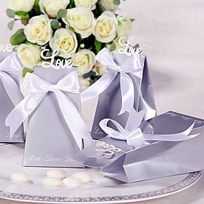 cheap Favor Holders-Round / Square Card Paper Favor Holder with Printing Favor Boxes / Favor Bags / Gift Boxes - 12