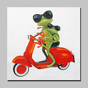 povoljno Slike sa životinjskim motivima-Hang oslikana uljanim bojama Ručno oslikana - Životinje Moderna With Frame