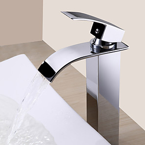 cheap Bathroom Sink Faucets-Lightinthrbox  Sprinkle® Sink Faucets - Contemporary Chrome Waterfall One Hole