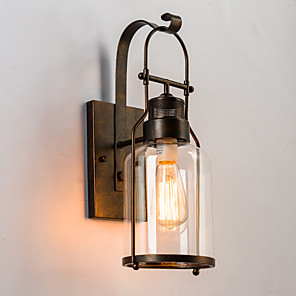 cheap Indoor Wall Lights-Rustic / Lodge Wall Lamps & Sconces Metal Wall Light 220V / 110V 60W