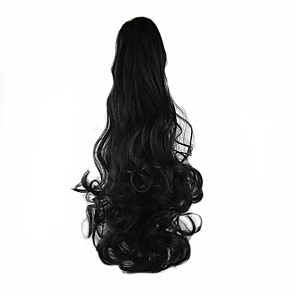 cheap Hair Pieces-Clip In Ponytails Bear Claw/Jaw Clip Synthetic Hair Hair Piece Hair Extension Wavy