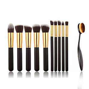 cheap Makeup Brush Sets-Professional Makeup Brushes Makeup Brush Set 11 Portable Professional Full Coverage Wood / Metal Makeup Brushes for Blush Brush Foundation Brush Eyeshadow Brush Concealer Brush Makeup Brush Set