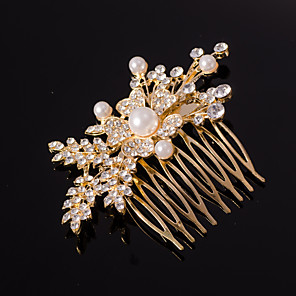 cheap Hair Jewelry-Women's For Wedding Special Occasion Crystal Rhinestone Gold Silver