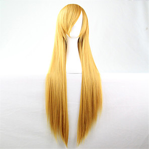 cheap Ceiling Lights-Synthetic Wig Straight kinky Straight kinky straight Straight Wig Blonde Yellow Synthetic Hair Women's Blonde