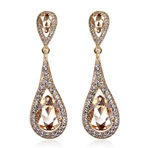cheap Earrings-Women's Crystal Drop Earrings Cubic Zirconia Earrings Jewelry Royal Blue / Burgundy / Champagne For 1pc
