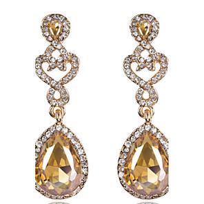 cheap Earrings-Women's White Crystal Drop Earrings Cubic Zirconia Earrings Jewelry Royal Blue / Burgundy / Champagne For 1pc