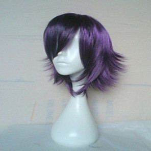 cheap Synthetic Trendy Wigs-Synthetic Wig Straight Straight Wig Short Purple Synthetic Hair Women's Purple hairjoy