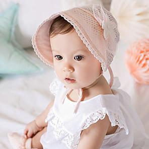 cheap Kids' Hats & Caps-Infant Boys' / Girls' Lace Hats & Caps White / Pink One-Size / Bandanas