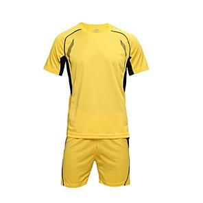 billiga Fotboll tröjor och shorts-Herr Fotboll Träningsdräkter Andningsfunktion Snabb tork Motion & Fitness Fritid Sport Fotboll Vinter Terylen Vit Gul Röd