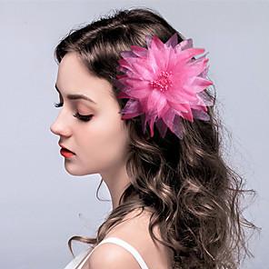 povoljno Party pokrivala za glavu-Tekstil Cvijeće / Šeširi / Ukosnica s Cvjetni print 1pc Vjenčanje / Special Occasion Glava