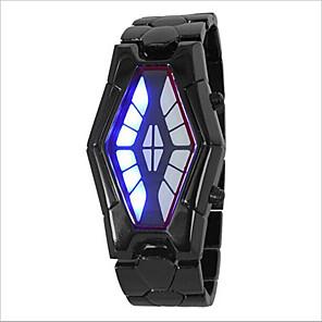 cheap Square & RectangularWatches-Men's Women's Couple's Wrist Watch Digital Fashion Water Resistant / Waterproof Black / Silver Digital - Black / Red Black / Blue Silver / LED