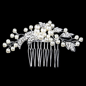 cheap Earrings-Pearl / Crystal / Rhinestone Hair Combs with 1 Wedding / Special Occasion / Casual Headpiece