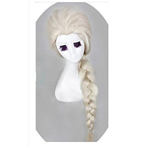 cheap Car Rear View Camera-Synthetic Wig Cosplay Wig Wavy Wavy Wig Long White Synthetic Hair Women's White StrongBeauty