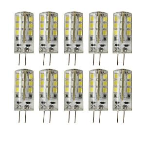 cheap LED Bi-pin Lights-BRELONG 10 pcs G4 24LED SMD2835 Dimmable Decorative Corn Light DC12V White / Warm White
