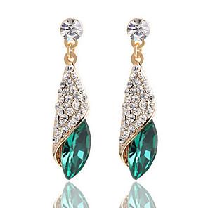 cheap Earrings-Women's Clear Black Blue Crystal Drop Earrings Princess Earrings Jewelry White / Black / Green For 1pc