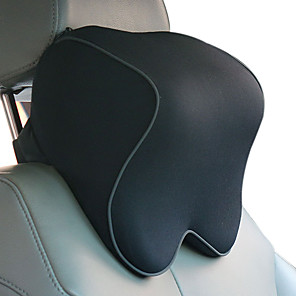 cheap Car Headrests&Waist Cushions-Car Headrests Black Cotton Functional Common for Universal All Models Material Cotton Car Seat Headrest