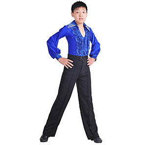 cheap Latin Dancewear-Latin Dance Pants Ruffles Training Sleeveless Natural Spandex