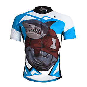 cheap Cycling Jerseys-ILPALADINO Men's Short Sleeve Cycling Jersey Blue Bike Jersey Top Mountain Bike MTB Road Bike Cycling Breathable Quick Dry Ultraviolet Resistant Sports Clothing Apparel / Stretchy / Back Pocket