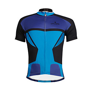 cheap Protective Gear-ILPALADINO Men's Short Sleeve Cycling Jersey Bike Jersey Top Breathable Quick Dry Ultraviolet Resistant Sports Clothing Apparel / Stretchy / Reflective Strips / Back Pocket / Sweat-wicking