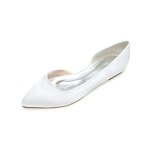 cheap Wedding Shoes-Women's Flat Heel Satin Spring / Summer / Fall Silver / Blue / Purple / Wedding / Party & Evening