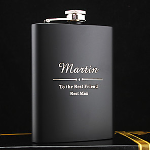 cheap Wedding Gifts-Personalized Stainless Steel Barware & Flasks / Hip Flasks Groom / Groomsman / Parents Wedding / Anniversary / Birthday