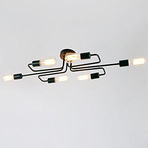 cheap Pendant Lights-BriLight 6-Light 28(11.2'') Mini Style Flush Mount Lights Metal Painted Finishes Rustic / Lodge / Vintage / Modern Contemporary 110-120V / 220-240V