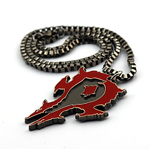 cheap Videogame Cosplay Accessories-Jewelry Inspired by WOW Cosplay Anime / Video Games Cosplay Accessories Necklace Cotton / Alloy Men's 855