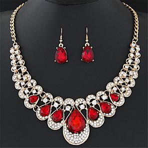 cheap Jewelry Sets-Women's AAA Cubic Zirconia Stud Earrings Drop Earrings Pendant Necklace Drop Flower Statement Personalized Luxury Classic Basic Simple Style Zircon Rhinestone Earrings Jewelry White / Black / Yellow