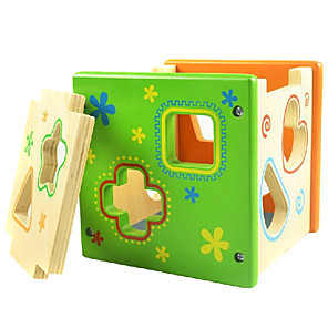 cheap Building Blocks-Colorful Direct Environmental Intelligence Box Shape Matching Building Blocks Wooden Educational Toys Infant Toys