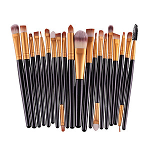 cheap Makeup Brush Sets-Professional Makeup Brushes Makeup Brush Set 20pcs Eco-friendly Professional Full Coverage Plastic Makeup Brushes for Eyeshadow Brush Makeup Brush Set