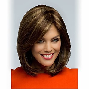 cheap Synthetic Trendy Wigs-Synthetic Wig Straight Straight Wig Short Synthetic Hair Women's Brown StrongBeauty