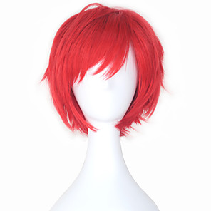 cheap Synthetic Trendy Wigs-Cosplay Akashi Seijyuurou Cosplay Cosplay Wigs Men's Women's 10 inch Heat Resistant Fiber Anime Wig