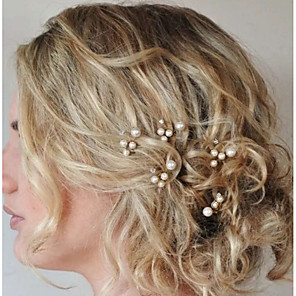 cheap Wedding Wraps-Pearl / Crystal Headwear / Hair Stick / Hair Pin with Floral 1pc Wedding / Special Occasion Headpiece