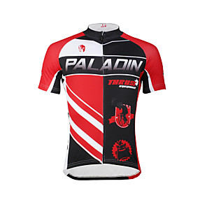 cheap Cycling Jerseys-ILPALADINO Men's Short Sleeve Cycling Jersey Bike Jersey Top Mountain Bike MTB Road Bike Cycling Breathable Quick Dry Ultraviolet Resistant Sports Clothing Apparel / Stretchy / Back Pocket