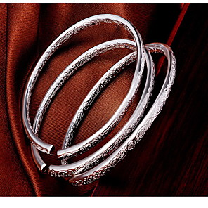 cheap Jewelry Sets-Women's Bracelet Bangles Ladies Fashion Sterling Silver Bracelet Jewelry Silver For