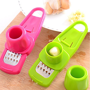 cheap Kitchen Utensils & Gadgets-Garlic Vegetable Cutter 2pcs Food Chopper Garlic Slicer Dicer Shredders Grinding Cooking Tools Green Pink 1pc Kitchen Tool Cooking Utensil