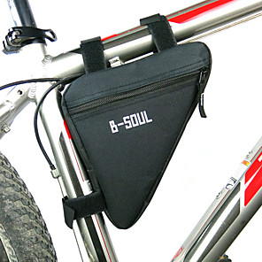 cheap Bike Handlebar Bags-B-SOUL Bike Frame Bag Top Tube Triangle Bag Moistureproof Wearable Shockproof Bike Bag Polyester PVC(PolyVinyl Chloride) Terylene Bicycle Bag Cycle Bag Cycling / Bike / Waterproof Zipper