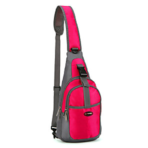cheap Running Bags-Hiking Backpack Sling Shoulder Bag Chest Bag 15 L for Camping / Hiking Climbing Cycling Sports Bag Waterproof Wearable Terylene Nylon Oxford Running Bag