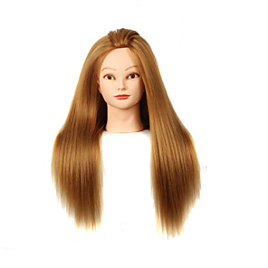 cheap Tools & Accessories-yaki synthetic hair salon female mannequin head with make up
