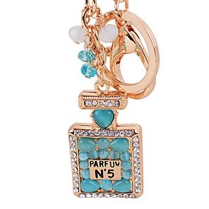 cheap Keychains-Perfume Bottle Opal Key Chain Ring High Quality Fashion Car Keychain Bag Charm