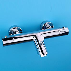 cheap Smartwatches-Shower Faucet / Bathtub Faucet - Contemporary / Modern Chrome Tub And Shower Ceramic Valve Bath Shower Mixer Taps / Brass / Single Handle Two Holes