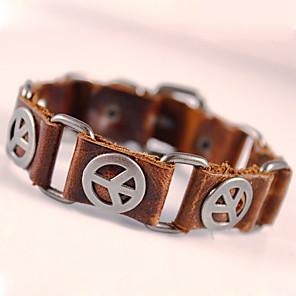 cheap Sport Watches-Men's Wrap Bracelet Leather Bracelet Peace Anchor Personalized Vintage Bohemian Punk Fashion Leather Bracelet Jewelry Black / Brown For Party Daily Casual