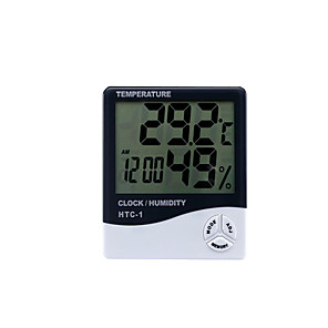 cheap CCTV Cameras-Digital Hygrometer HTC-1 Indoor Thermometer, Accurate Temperature Humidity Monitor Meter for Home, Office, Greenhouse