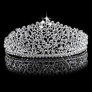 cheap Earrings-Rhinestone / Alloy Tiaras with 1 Wedding Headpiece