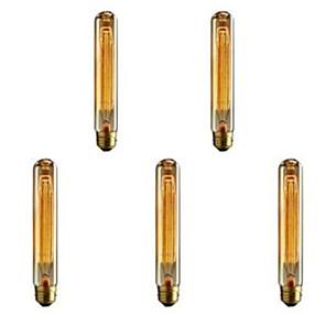cheap LED String Lights-5pcs 40W E26 / E27 T185 Warm White 2300k Retro / Dimmable / Decorative Incandescent Vintage Edison Light Bulb 220-240V