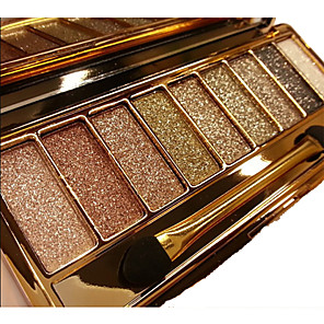 cheap Eyeshadows-12 Colors Eyeshadow Palette Powders Eye Matte Shimmer Mirror Single Open Lid Glitter Shine smoky Coloured gloss Long Lasting Natural Daily Makeup Halloween Makeup Party Makeup Cosmetic Gift