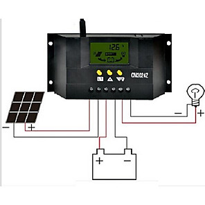 cheap Novelties-CM3024z  30A  12V/24V LCD Liquid Crystal  Display Solar Controller