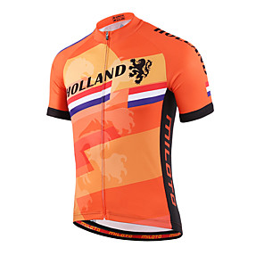 cheap Cycling Jerseys-Miloto Men's Women's Short Sleeve Cycling Jersey Coolmax® Plus Size Bike Shirt Sweatshirt Jersey Mountain Bike MTB Road Bike Cycling Breathable Quick Dry Reflective Strips Sports Clothing Apparel