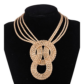 cheap Jewelry Sets-Women's Statement Necklace Y Necklace Flower Statement Vintage Fashion Alloy Gold Silver Necklace Jewelry For Wedding Party Party / Evening Daily Casual Work